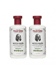 Thayers Witch Hazel with Aloe Vera, Original Astringent 12 oz (Pack of 2)