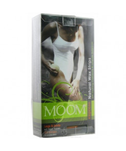 Moom Natural Wax Strips with Chamomile & Lavender Botanicals-for Legs and Body(Multi-Pack)