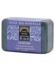 One With Nature Dead Sea Mineral Soap, Lavender, 7-Ounces (Pack of 6)