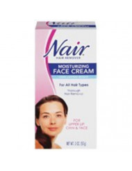 Nair Hair Removal Cream for Face with Special Moisturizers, 2-Ounce Bottles (Pack of 4)