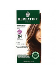 Herbatint Permanent Herbal Haircolour Gel, Light Chestnut, 5N, 1 Each (Pack of 2)