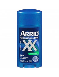 ARRID XX Anti-Perspirant Deodorant Solid Unscented 2.6 oz ( Pack of 6) ( Pack May Vary )