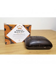 Nubian African Black Soap 5 Ounce Bar - 12 Count