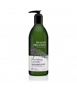 Avalon Organics Nourishing Lavender Hand & Body Lotion, 12 oz. (Pack of 2)
