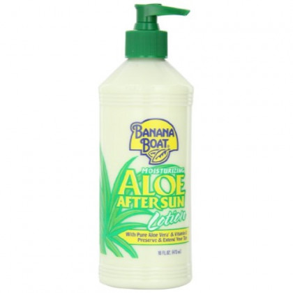 Banana Boat Aloe Vera Sun Burn Relief Sun Care After Sun Lotion - 16 Ounce (Pack of 4)