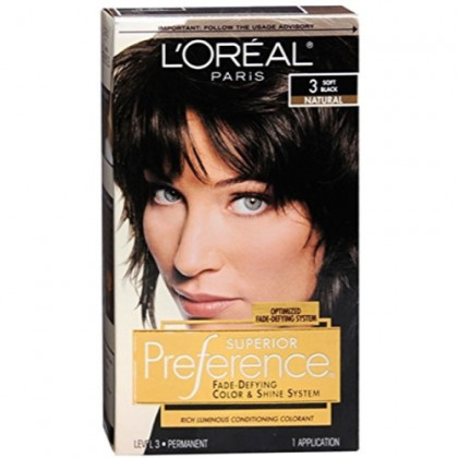 Superior Preference Fade-Resistant Conditioning Colorant, Level 3 Permanent, Soft Black/Natural 3 (Pack of 3)