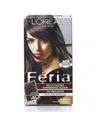 L'Oreal Feria Multi-Faceted Shimmering Colour, Level 3 Permanent, Deeply Brown 40 (Pack of 3)