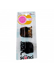 Scunci No-Slip Grip Jaw Clips, 3.5 cm, 2-Pieces per Pack (1-Pack)