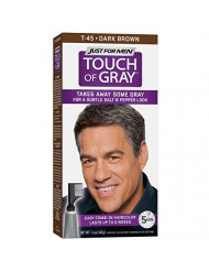 Just For Men Touch Of Gray Comb-In Men's Hair Color, Dark Brown , 1.4 ounce