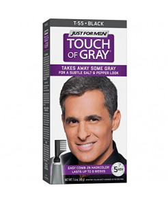 Just For Men Touch Of Gray Comb-In Men's Hair Color, Black
