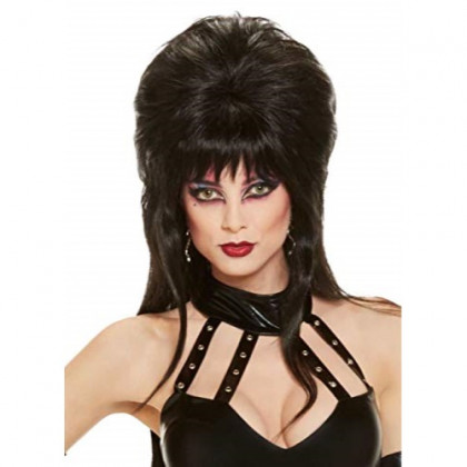 Rubie's Elvira Mistress Of The Dark Long Wig, Black, One Size