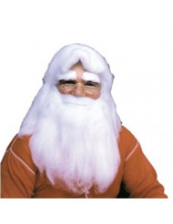 Rubie's Herculon Santa Beard And Wig Set, White, One Size