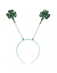 amscan St. Patrick's Day Glitter Plastic Shamrock Headbopper | Party Accessory