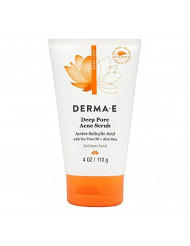 DERMA E Natural Body Care Very Clear Cleansing Facial Scrub, 4 Ounce