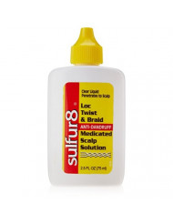 Sulfur8 Loc Twist and Braid Medicated Scalp Solution, 2.5 Ounce