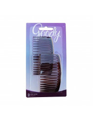 Goody WoMens Classics Mock Tort Comb, Side, 0.51 Inch, 2 Count