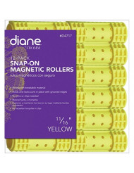 "Diane Snap-on Magnetic Roller, Yellow, 11/16"", 12/bag"