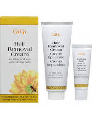Gigi Hair Removal Cream for Bikini & Legs with Calming Balm, 1 Ea, 1count