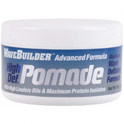 WaveBuilder Advanced Formula High Def Pomade | High Linoleic Oils and Maximum Protein Isolates, 3.5 Oz