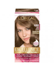 L'Oreal Paris Excellence Creme, Light Beige Brown 6BB (Packaging may vary)