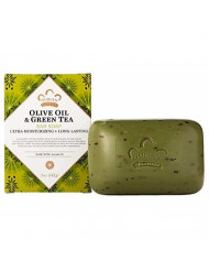 Nubian Bar Soap,Olive and Grn Tea, 5 Ounce, 6 Pack