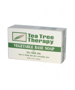 Tea Tree Therapy Pack of 8 x Vegetable Base Soap with Tea Tree Oil - 3.9 oz