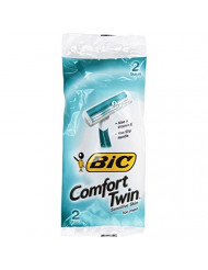 Bic Comfort Twin Shavers for Men, with Aloe, 2 ct
