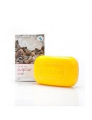 THE ORIGINAL Dead Sea Sulfur Soap Bar by Jericho - Natural Face and Body Treatment Soap with Sulphur and Minerals from the Dead Sea