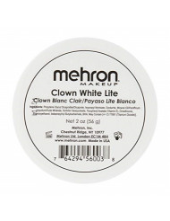 Mehron Makeup Clown White Lite Professional Makeup (2 oz)