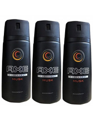 AXE Deodorant Body Spray, Musk - 5 oz (150 ml) (3pack)