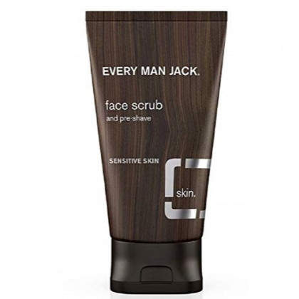 Every Man Jack Face Scrub, Fragrance Free, 5.0-ounce