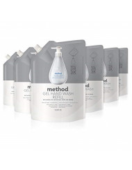 Method Gel Hand Soap Refill, Free + Clear, 34 Fl Oz (Pack of 6)
