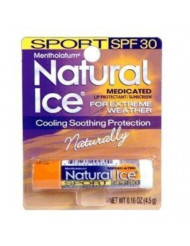 Mentholatum Natural Ice Sunscreen/Lip Protectant SPF 30 Sport 1 Each ( Pack of 12)