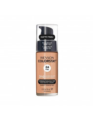 Revlon ColorStay Makeup for Combination/Oily Skin SPF 15, Longwear Liquid Foundation, with Medium-Full Coverage, Matte Finish, Oil Free, 310 Warm Golden, 1.0 oz