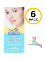 Surgi Cream Hair Remover Face 1 oz. (Pack of 6)
