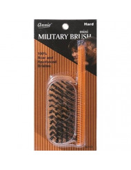 Mini Military Hard Brush with 100% Boar and Reinforced Bristles and 4.8 Pocket Comb by Annie