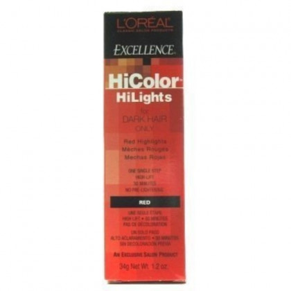 L'Oreal Excellence Hicolor Hilights Red 1.2 oz. (Case of 6)