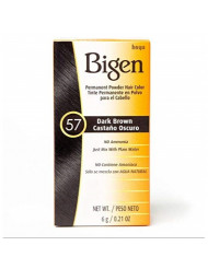 Bigen Powder Hair Color #57 Dark Brown .21 oz. (Case of 6)