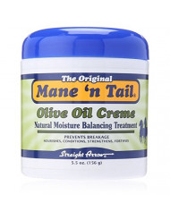 Mane 'n Tail Olive Oil Creme NATURAL MOISTURE BALANCING TREATMENT 5.5 Ounce