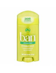 Ban Anti-Perspirant Deodorant Invisible Solid Unscented 2.60 oz (5 pack)