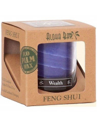 Feng Shui Palm Wax Jar Candle, Water Wealth 2.5 oz by Aloha Bay (Pack of 3)