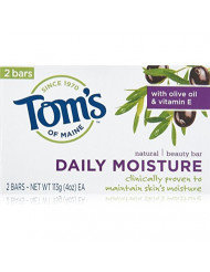 Tom's of Maine Moisturing Bar Daily Moisture Natural Beauty Bar Soaps, 2 Count
