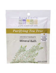 Aura Cacia Aromatherapy Mineral Bath, Purifying Tea Tree, 2.5 ounce packet (Pack of 3)