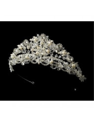 Princess Swarovski and Freshwater Pearl Bridal Tiara