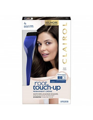 Clairol Root Touch-Up Permanent Hair Color Creme, 4 Dark Brown, 2 Count