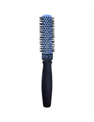 Spornette Prego 1.5 inch Round Brush (#260) with Tourmaline Ceramic Vented Barrel and Nano-Silver Ion Bristles for Straightening, Styling, Curling and Volumizing Short to Medium Hair Types.
