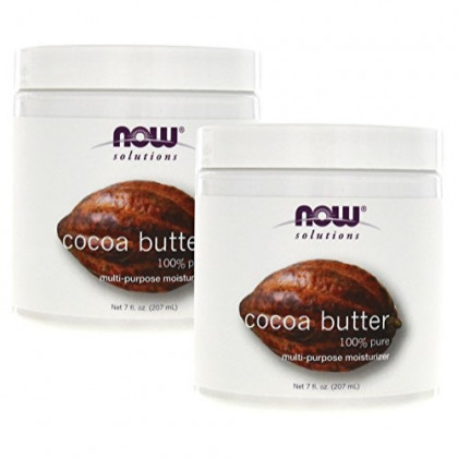 Now Foods Cocoa Butter (100% Pure) - 7 oz. (pack of 2)