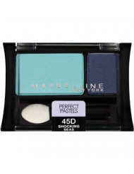 Maybelline New York Expert Wear Eyeshadow Duos, Perfect Pastels 45D Shocking Seas, 0.08 Ounce