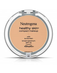 Neutrogena Healthy Skin Compact Lightweight Cream Foundation Makeup with Vitamin E Antioxidants, Non-Greasy Foundation with Broad Spectrum SPF 55, Nude 40,.35 oz
