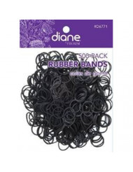 Pack of 500 Small Black Rubber Bands for Styling, Kids Hair, Braids Hair, Dreadlocks, Babies, Hair Twists, Ethnic Styles and Even Fishing, Urban Essence Brand